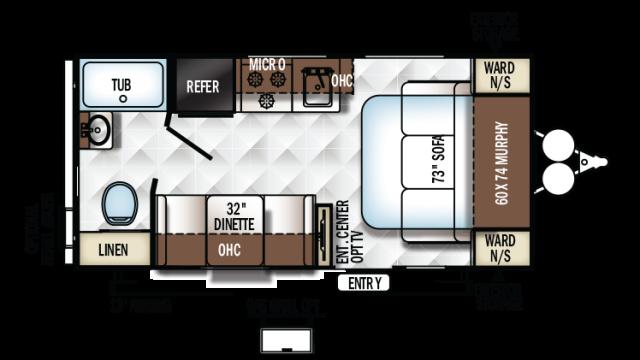 2018 Rockwood Mini Lite 1905 Floor Plan
