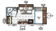 2018 Rockwood Mini Lite 1909S Floor Plan