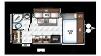 2018 Rockwood Mini Lite 1909S Floor Plan