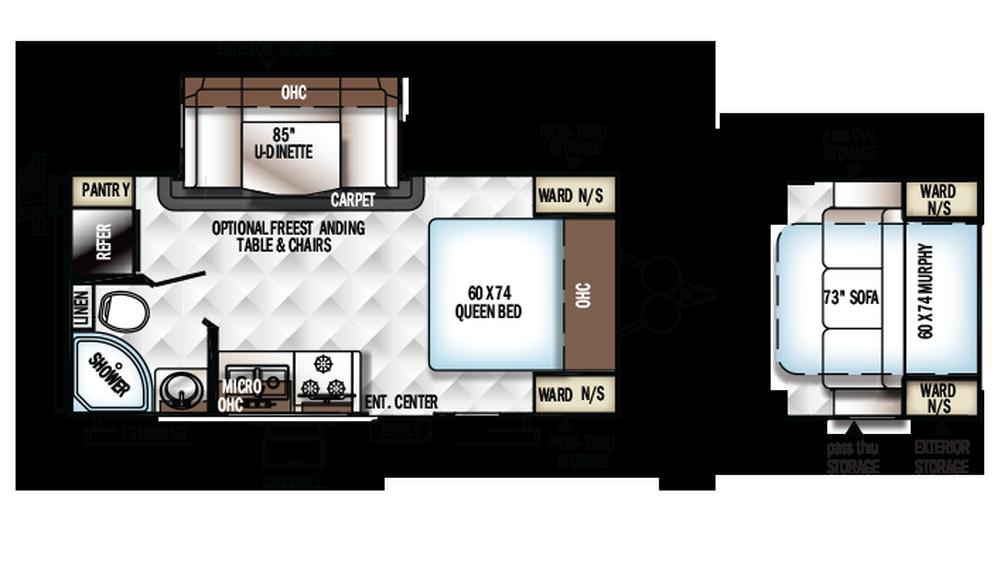 2018 Rockwood Mini Lite 2104S Floor Plan