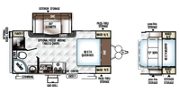 2018 Rockwood Mini Lite 2104S Floor Plan