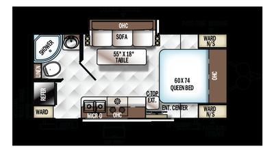 2018 Rockwood Mini Lite 2109S Floor Plan