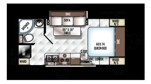 2017 Rockwood Mini Lite 2109S Floor Plan