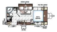 2017 Rockwood Mini Lite 2109S Floor Plan