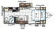 2018 Rockwood Mini Lite 2304KS Floor Plan