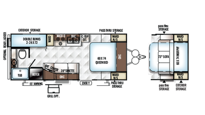 2018 Rockwood Mini Lite 2306 Floor Plan