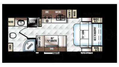 2018 Rockwood Mini Lite 2503S Floor Plan