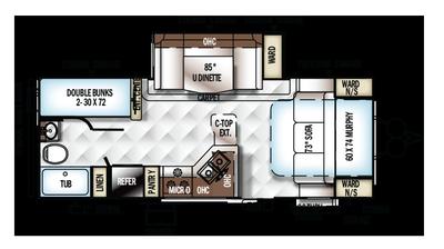 2018 Rockwood Mini Lite 2504S Floor Plan