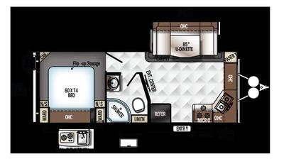 2018 Rockwood Mini Lite 2506S Floor Plan