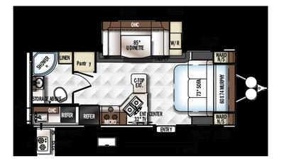 2018 Rockwood Mini Lite 2507S Floor Plan