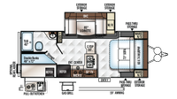 2018 Rockwood Mini Lite 2509S Floor Plan