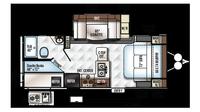 2018 Rockwood Mini Lite 2509S Floor Plan