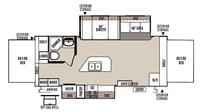 2016 Rockwood Roo 23IKSS Floor Plan