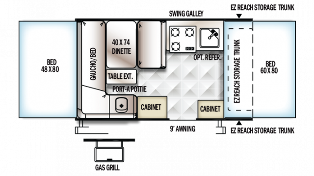 2018 Rockwood ESP 1910ESP Floor Plan