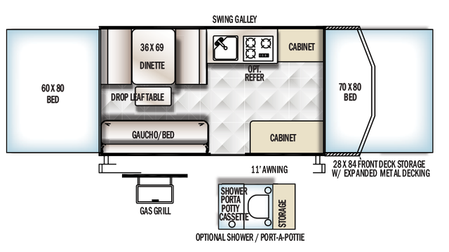 2018 Rockwood Freedom 2280 Floor Plan