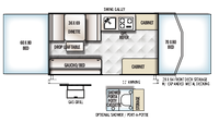 2019 Rockwood Freedom 2280 Floor Plan