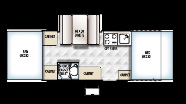 2018 Rockwood ESP 232ESP Floor Plan