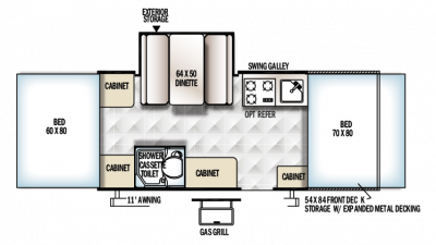 2018 Rockwood ESP 232ESP Floor Plan
