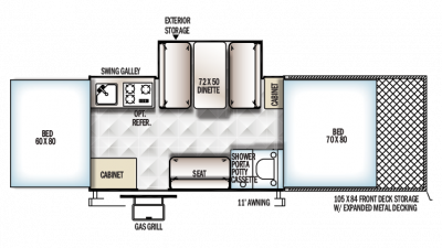 2018 Rockwood ESP 282TESP Floor Plan