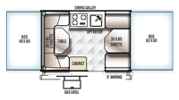 2019 Rockwood Freedom 1980 Floor Plan