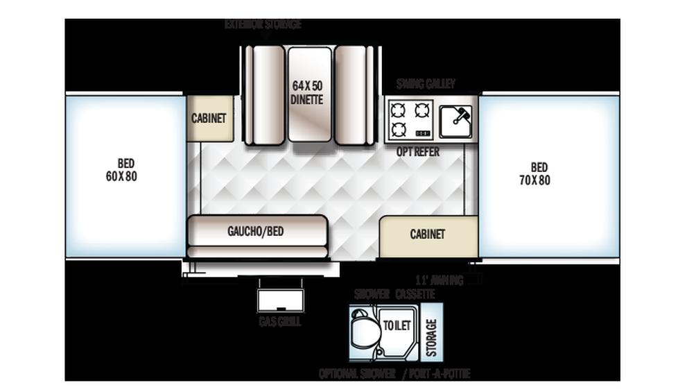 2018 Rockwood Freedom 2318G Floor Plan