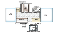 2019 Rockwood Freedom 2318G Floor Plan