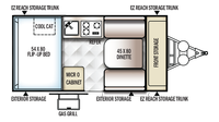 2019 Rockwood Hard Side A122S Floor Plan