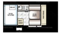 2019 Rockwood Hard Side A122S Floor Plan