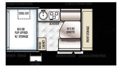 2018 Rockwood Hard Side A192HW Floor Plan