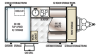2019 Rockwood Hard Side A192HW Floor Plan