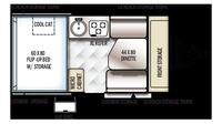 2019 Rockwood Hard Side A192HW Floor Plan