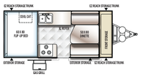 2019 Rockwood Hard Side A212HW Floor Plan