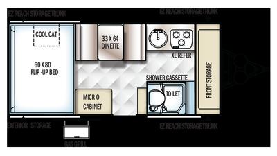 2018 Rockwood Hard Side A214HW Floor Plan