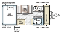 2019 Rockwood Hard Side A214HW Floor Plan