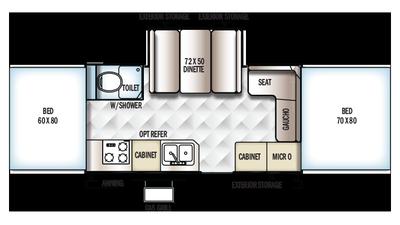 2018 Rockwood High Wall HW276 Floor Plan