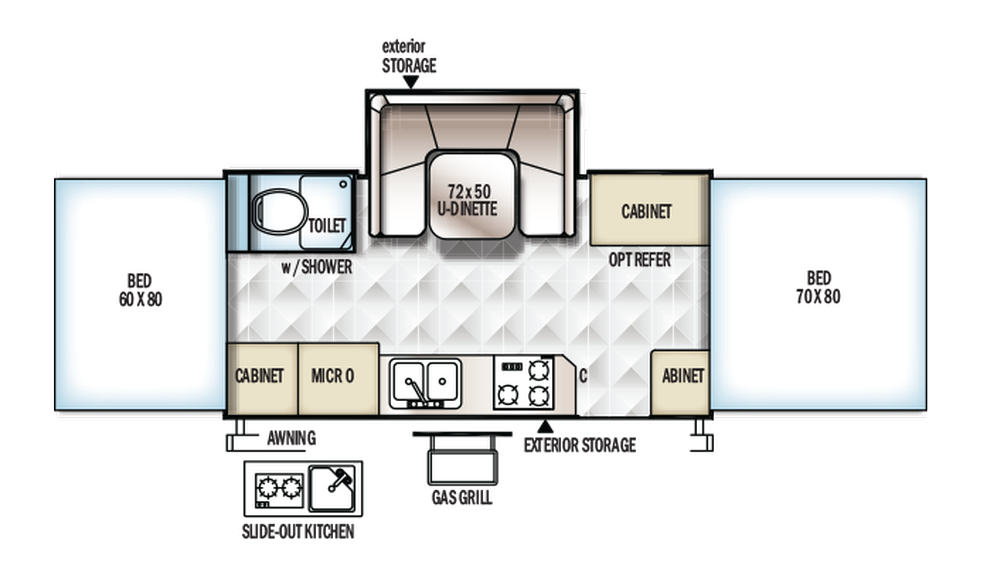 2018 Rockwood High Wall HW277 Floor Plan