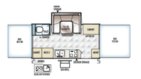 2019 Rockwood High Wall HW277 Floor Plan