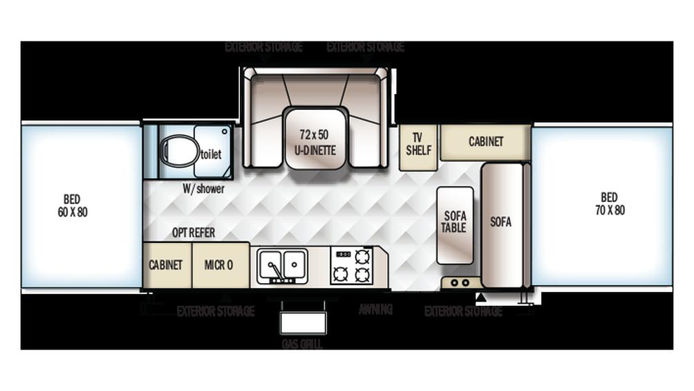 2018 Rockwood High Wall HW296 Floor Plan