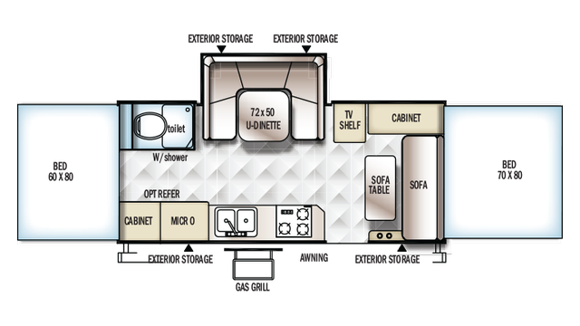 2018 Rockwood High Wall HW296 Floor Plan