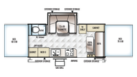 2019 Rockwood High Wall HW296 Floor Plan
