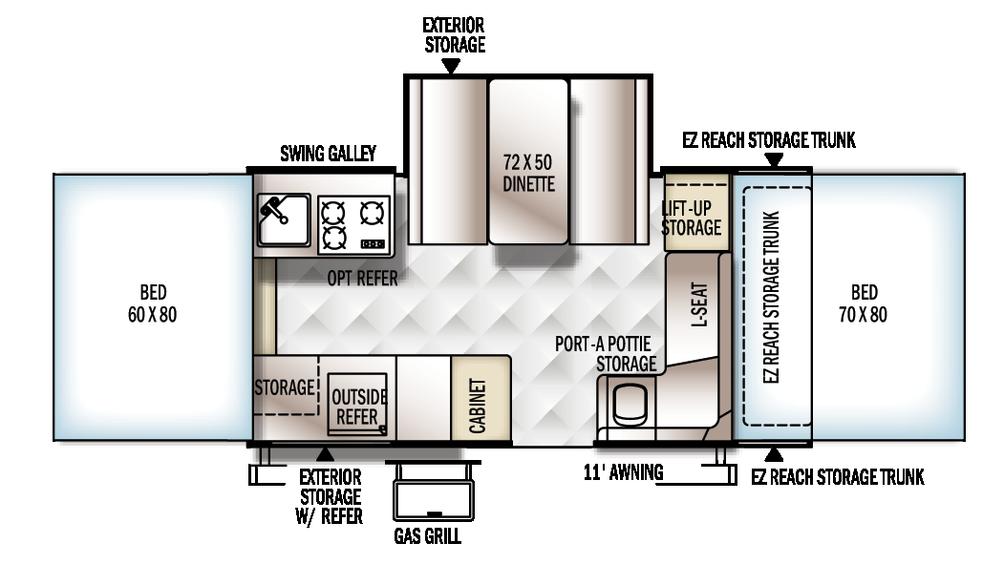 2018 Rockwood Premier 2317G Floor Plan