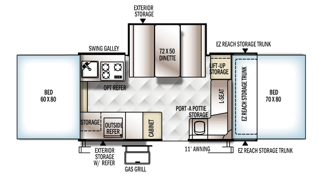 2018 Rockwood Premier 2317G Floor Plan