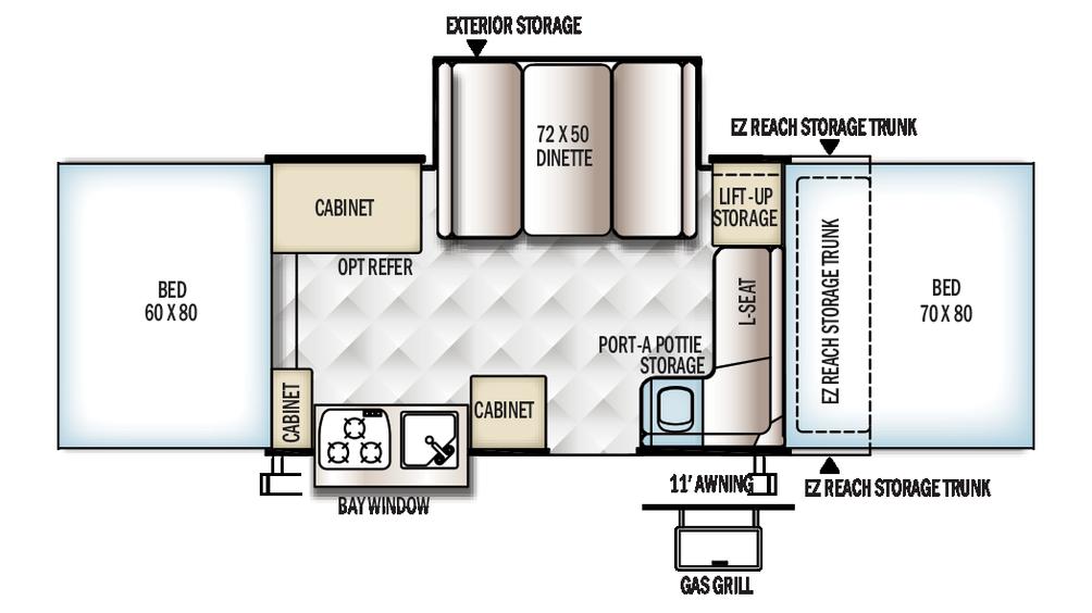 2018 Rockwood Premier 2514G Floor Plan