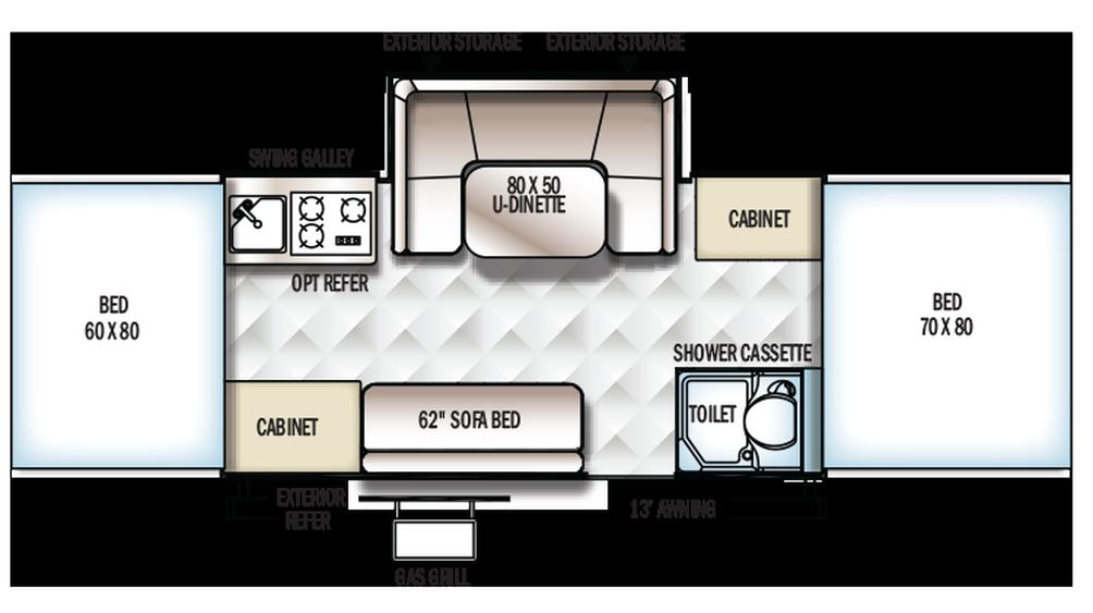 2018 Rockwood Premier 2716G Floor Plan