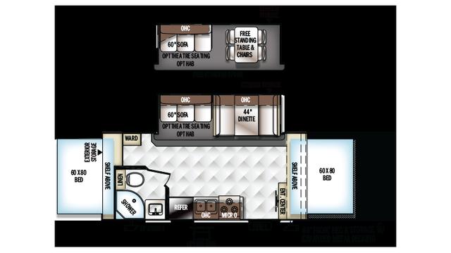 2018 Rockwood Roo 21SSL Floor Plan