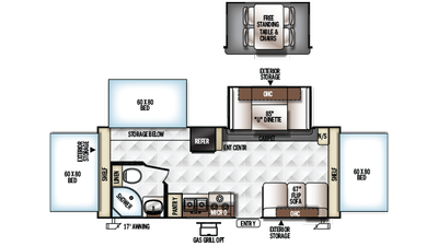 2018 Rockwood Roo 233s Floor Plan