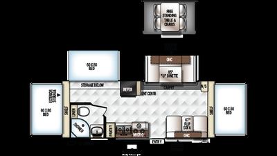 2018 Rockwood Roo 233S Floor Plan