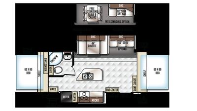 2018 Rockwood Roo 23IKSS Floor Plan