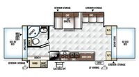2018 Rockwood Roo 24WS Floor Plan