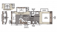2014 Rockwood Signature Ultra Lite 8244WS Floor Plan